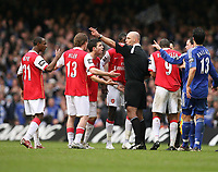 Photo: Rich Eaton.<br /> <br /> Chelsea v Arsenal. Carling Cup Final. 25/02/2007. referee Howard Webb sends Arsenals Emmanuel Adebayor off in the second half