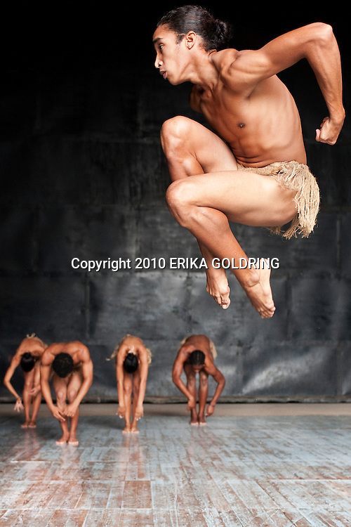 Danza del Caribe, one of the most prestigious dance companies in Cuba, rehearsal at Teatro Heredia, Avenida de Las Americas, on December 10, 2010, in Santiago de Cuba, Cuba.