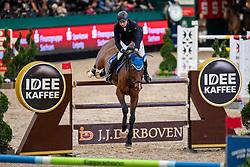 GRIESE Henrik (GER), ECL Corvo<br /> Leipzig - Partner Pferd 2019<br /> IDEE Kaffe Preis<br /> CSI5*<br /> 18. Januar 2019<br /> © www.sportfotos-lafrentz.de/Stefan Lafrentz