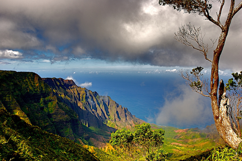 Landscape Photo Hawaii Mountains Ocean Stephanelacasa Com