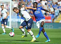 Football - 2019 / 2020 Premier League - Leicester City vs. Tottenham Hotspur<br /> <br /> Harry Kane of Tottenham tussles with Wilfried Ndidi of Leicester, at The King Power Stadium.<br /> <br /> COLORSPORT/ANDREW COWIE