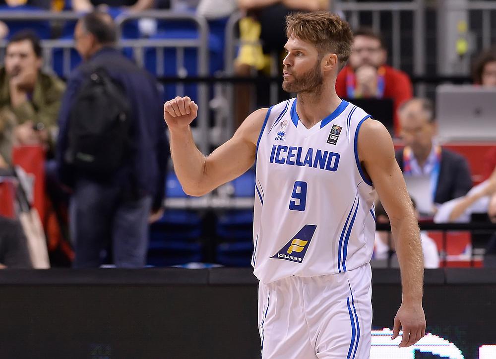 DESCRIZIONE : Berlino Eurobasket 2015 Islanda Italia<br /> GIOCATORE : Jon Stefansson<br /> CATEGORIA : esultanza<br /> SQUADRA : Islanda<br /> EVENTO : Eurobasket 2015<br /> GARA : Islanda Italia<br /> DATA : 06/09/2015<br /> SPORT : Pallacanestro<br /> AUTORE : Agenzia Ciamillo&shy;Castoria/R.Morgano<br /> Galleria : Eurobasket 2015<br /> Fotonotizia : Berlino Eurobasket 2015 Islanda Italia