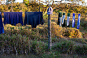Inhauma_MG, Brasil...Roupa de jogadores futebol secando na cerca em Inhauma, Minas Gerais...The clothes of soccer players drying on the fence in Inhauma, Minas Gerais...Foto: LEO DRUMOND / NITRO