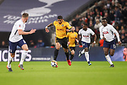 Joss Labadie of Newport County heads upfield during the The FA Cup fourth round replay match between Tottenham Hotspur and Newport County at Wembley Stadium, London, England on 6 February 2018. Picture by Toyin Oshodi.
