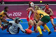 Olympics 2012, hockey, Sakiyo Asano defends its goal