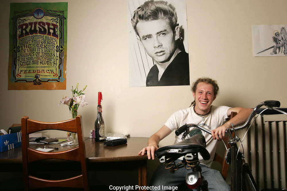 Zach Germaniuk, president Students for Sensible Drug Policy, in his apartment on the OSU campus.