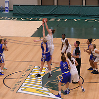 Women's Basketball Preseason game tipoff on October 14 at Centre for Kinesiology, Health and Sport. Credit: Arthur Ward/Arthur Images