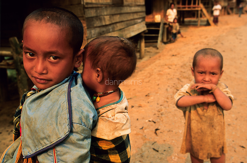 Children in Northern Lao village, Muang Singh, Laos