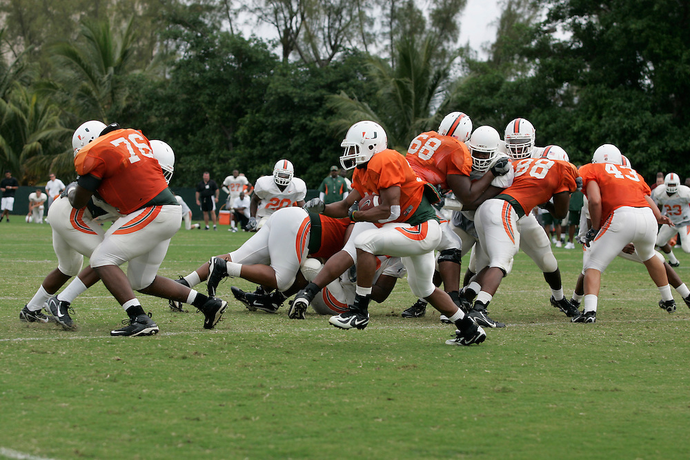 2008 University of Miami Football Spring Practice