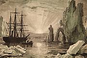 Sailing vessel in Arctic waters