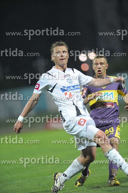 Vrsic of Koper and Skolnik of Maribor at football match of 33th Round of 1st Slovenian League between NK Luka Koper and NK Maribor, on April 30, 2010, in Sportni park, Nova Gorica, Slovenia. (Photo by foto-forma/ Sportida)