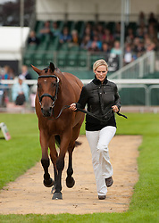 Zara Phillips and High Kingdom, during the First Inspection in the main arena, Land Rover Burghley Horse Trials, Stamford, England, August 31, 2011. Photo by Nico Morgan/i-Images.