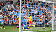 Watford Adlene Guedioura goes close during the Sky Bet Championship match between Brighton and Hove Albion and Watford at the American Express Community Stadium, Brighton and Hove, England on 25 April 2015. Photo by Phil Duncan.