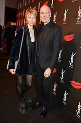 EDIE CAMPBELL and STEPHAN BEZY the international general manager of Yves Saint Laurent Beauté at L'Oréal at the YSL Beauty: YSL Loves Your Lips party held at The Boiler House,The Old Truman Brewery, Brick Lane,London on 20th January 2015.