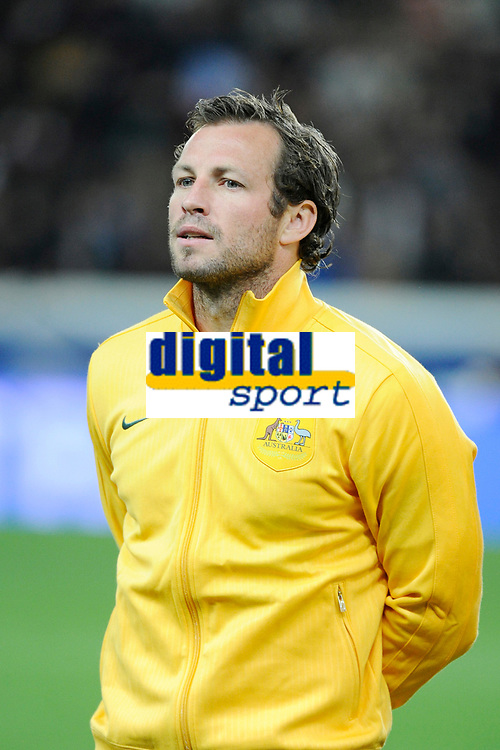 Australia's Lucas Neill before the International football Friendly Game 2013/2014 between France and Australia on October 11, 2013 in Paris, France. Photo Jean Marie Hervio / Regamedia/ DPPI