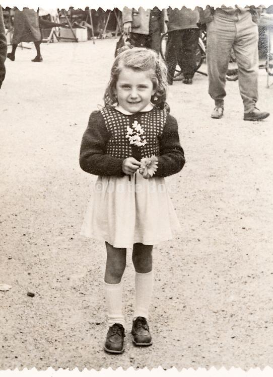 little girl portrait France ca 1940s