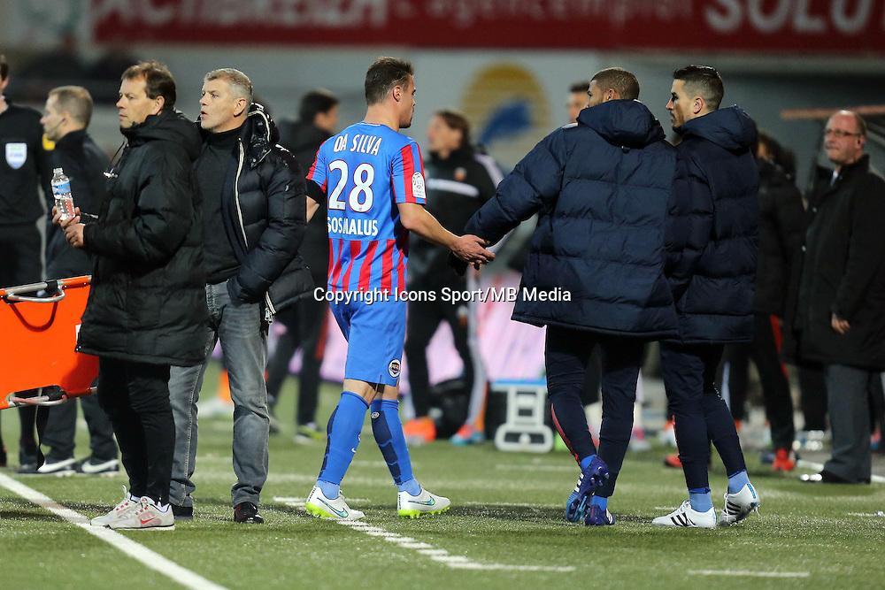 Expulsion Damien DA SILVA - 14.03.2015 - Lorient / Caen - 29eme journee de Ligue 1<br /> Photo : Vincent Michel / Icon Sport