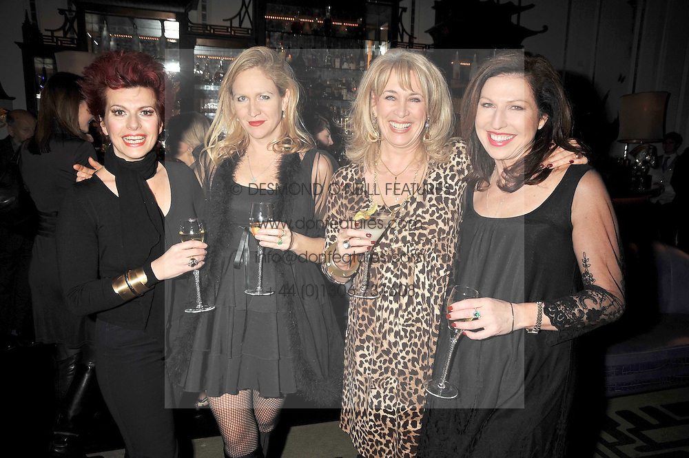 Left to right, CLEO ROCCOS, IMOGEN EDWARDS-JONES, CAROLE MALONE and AMANDA PATELL at a party to celebrate the publication of 'In Bed With' held at the Artesian Bar,The Langham Hotel, 1c Portland Placeon 11th February 2009.