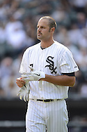 CHICAGO - SEPTEMBER 05:  Jordan Danks #7 of the Chicago White Sox looks on against the Minnesota Twins on September 05 , 2012 at U.S. Cellular Field in Chicago, Illinois.  The White Sox defeated the Twins 6-2.  (Photo by Ron Vesely)  Subject:    Jordan Danks