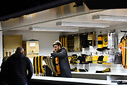 Vendors selling Hull City clothing at KCOM stadium during the EFL Sky Bet Championship match between Hull City and Preston North End at the KCOM Stadium, Kingston upon Hull, England on 26 September 2017. Photo by Ian Lyall.