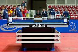 27.02.2011, Westfalenhalle Dortmund, GER, Tischtennis, German Open, im Bild Spieltisch von Adidas, EXPA Pictures © 2011, PhotoCredit: EXPA/ A. Neis