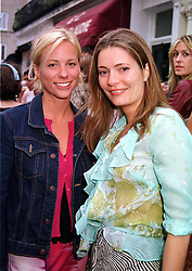Left to right, MISS KATE DRIVER sister of actress Minni <br /> Driver and MISS PLUM SYKES,  at a party in London on<br />  31st May 2000.OET 23<br /> © Desmond O'Neill Features:- 020 8971 9600<br />    10 Victoria Mews, London.  SW18 3PY <br /> www.donfeatures.com   photos@donfeatures.com<br /> MINIMUM REPRODUCTION FEE AS AGREED.<br /> PHOTOGRAPH BY DOMINIC O'NEILL
