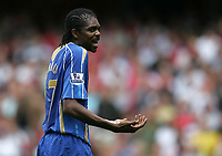 Photo: Lee Earle.<br /> Arsenal v Portsmouth. The FA Barclays Premiership. 02/09/2007.Portsmouth's Kanu looks frustrated after Arsenal scored their first.