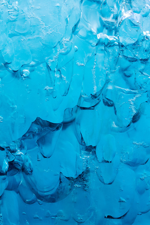 USA, Alaska, Tracy Arm - Fjords Terror Wilderness, Close-up of deep blue glacial iceberg floating in Holkham Bay on summer morning