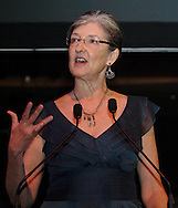 Richard C. Holbrooke Distinguished Achievement Award winner Barbara Kingsolver during the 2011 Dayton Literary Peace Prize dinner and awards presentation at the Schuster Center in downtown Dayton, Sunday, November 13, 2011..