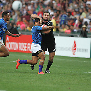 New Zealand All Black 7's defeated Manu Samoa 24-12 during the Hong Kong 7's day two, Hong Kong Stadium, Happy Valley, Hong Kong Island, China.   Photo by Barry Markowitz, 4/9/16