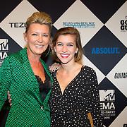 NLD/Amsterdam/20151012 - MTV EMA Pre Party, Saskia Noort en dochter Julia Schellekens