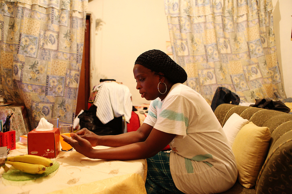 A Nigerian woman at her home in Beirut.