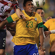 Alex Sandro, Brazil, in action during the USA V Brazil International friendly soccer match at FedEx Field, Washington DC, USA. 30th May 2012. Photo Tim Clayton