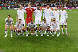 England Team picture  during Italy V England Quarter-finals in the Euro 2012, Sunday June 24, 2012, in Kiev, Ukraine. Photo By Imago/i-Images