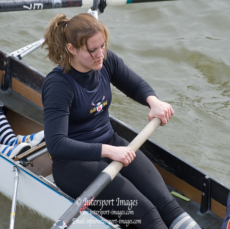 London; Great Britain;  Southampton University BC Crew B,  at the start of the 2009; Women's Head of the River Race; raced over Rowing Course Championship course; Mortlake to Putney; 4.25 Miles; on the River Thames.; Saturday; 07.03.2009. [Mandatory Credit: © Peter Spurrier/Intersport Images]