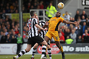 Lenell John-Lewis controls the ball during the EFL Sky Bet League 2 match between Newport County and Notts County at Rodney Parade, Newport, Wales on 6 May 2017. Photo by Daniel Youngs.