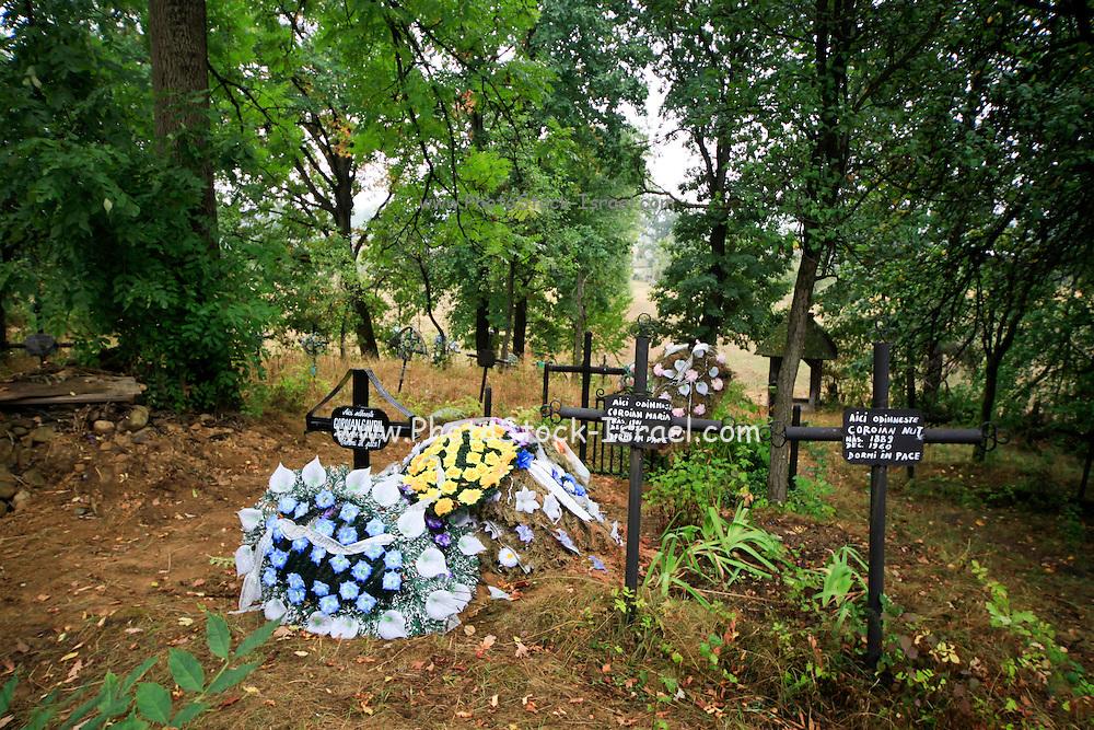 Cemetery in Plopis Maramures County, Romania