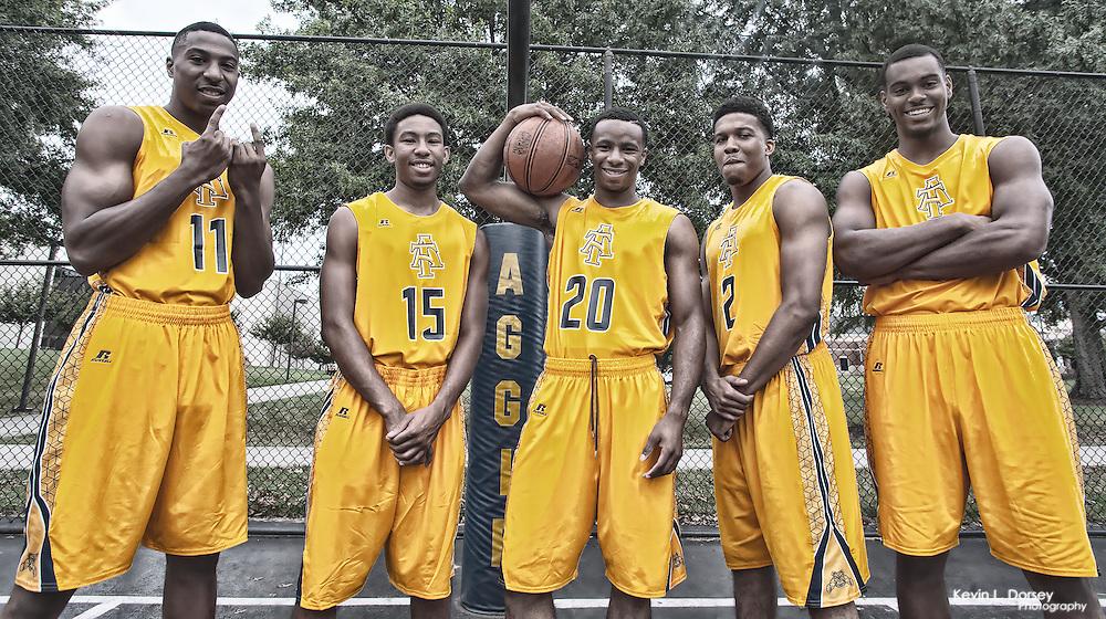 NC A&T 2014-15 Men's Basketball Freshman Group - James Whitaker; Amari Hamilton; Austin Williams; Sam Hunt; Nick Reese