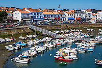 France, Vendée (85), Ile d'Yeu, Port-Joinville // France, Vendée, Yeu island, Port-Joinville