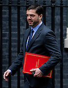 UNITED KINGDOM, London: 17 November 2015 Stephen Crabb Secretary of State for Wales arrives to attend Cabinet Meeting at 10 Downing Street in London, England. Picture by Andrew Cowie / Story Picture Agency