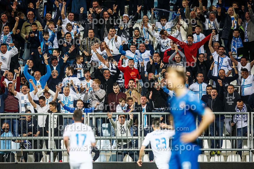 Fans of HNK Rijeka during football match between HNK Rijeka and GNK Dinamo Zagreb in Round #27 of 1st HNL League 2016/17, on November 5, 2016 in Rujevica stadium, Rijeka, Croatia. Photo by Grega Valancic / Sportida