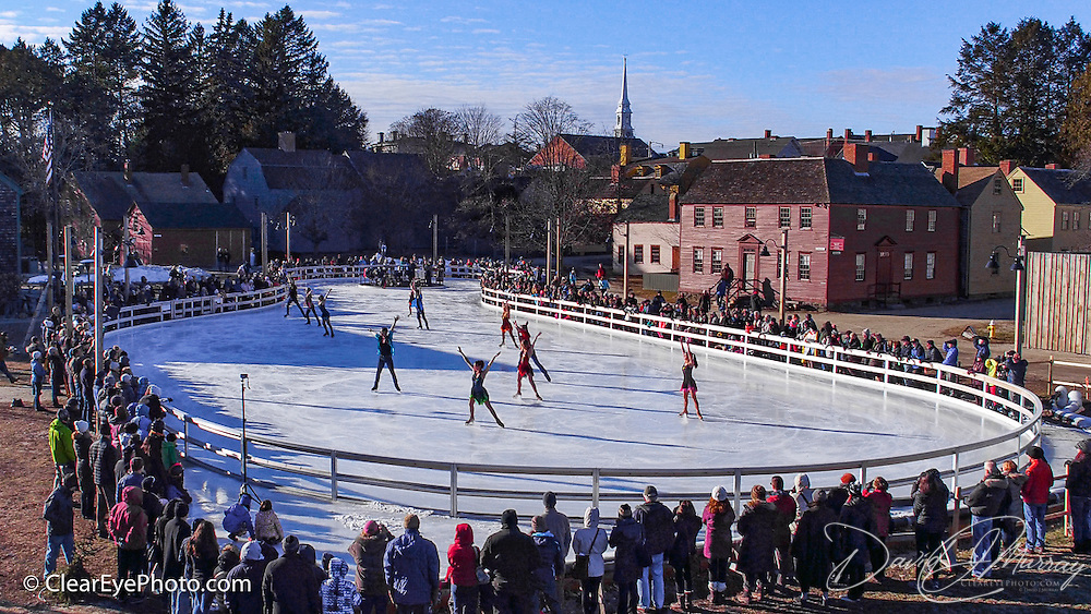 Ice Dance International performs at Strawbery Banke, Portsmouth, NH Jan 2017