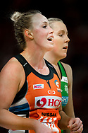 SYDNEY, AUSTRALIA - AUGUST 24: Kim Green of the Giants during the round 14 Super Netball match between the Giants and the West Coast Fever at Qudos Bank Arena on August 24, 2019 in Sydney, Australia.(Photo by Speed Media/Icon Sportswire)
