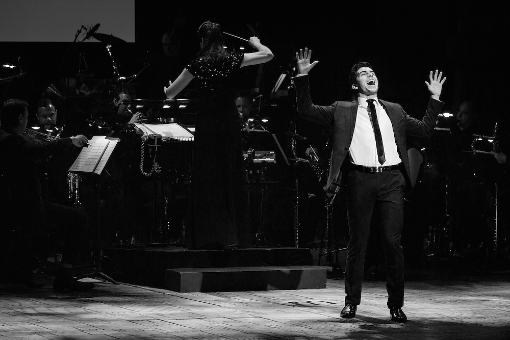 Rob Guest Endowment Recipient Daniel Assetta performs at the Rob Guest Endowment Gala 2015, taken at the Lyric Theatre in Sydney, on Monday, 9 November 2015.  <br /> <br /> Hosted by David Campbell and Lucy Durack, guest artists performing at the concert included musical theatre performers Rob Mills, Caroline O&rsquo;Connor and Jemma Rix, Dirty Dancing star Mark Vincent, 2014 Rob Guest Endowment winner Josh Robson, and cast members from CATS and Matilda the Musical.<br /> <br /> The six finalists for the 2015 Rob Guest Endowment are Blake Appelqvist (West Side Story, new VCA Graduate), Daniel Assetta (Cats, Wicked), Hilary Cole (Carrie, Dogfight), Georgina Hopson (Into The Woods, The Pirates of Penzance), Rob McDougall (Les Miserables, Phantom of the Opera) and Ashleigh Rubenach (Anything Goes, The Sound of Music).  The competition was judged by three of Australian musical theatre&rsquo;s finest creatives, Kelly Abbey, Peter Casey and Gale Edwards.<br /> <br /> The 2015 recipient was Daniel Assetta.