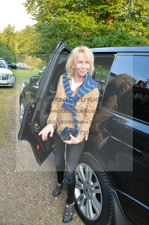 TRUDIE STYLER attending Annabel Goldsmith's Summer party held at her home in Ham, Surrey on 10th July 2014.