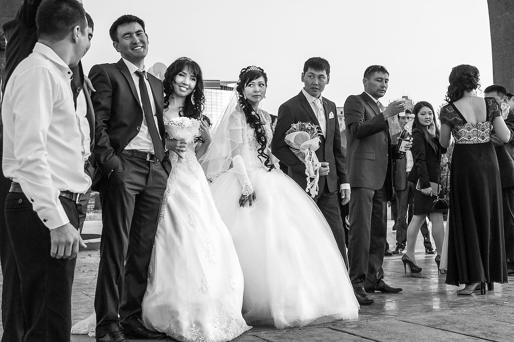 Marriage at Victory square.
