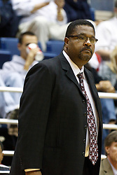 November 16, 2010; Berkeley, CA, USA;  Cal State Northridge Matadors head coach Bobby Braswell on the sidelines against the California Golden Bears during the first half at Haas Pavilion.  California defeated Cal State Northridge 80-63.