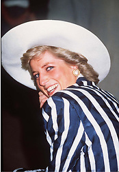 Diana, Princess of Wales smiles during a visit Australia.