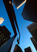 USA NEW YORK CITY NOV97 - A scuplture in front of the Rockefeller Centre in midtown Manhattan points skywards. Photography by Jiri Rezac<br />