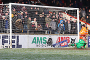 Shrewsbury Town forward Stefan Payne (45) takes a penalty and scores a goal 1-2  during the EFL Sky Bet League 1 match between Scunthorpe United and Shrewsbury Town at Glanford Park, Scunthorpe, England on 17 March 2018. Picture by Mick Atkins.